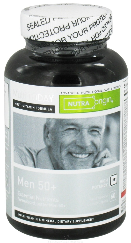 Nutra Origin - Multi Today Men 50+ Essential Nutrients High Potency - 60 Caplets