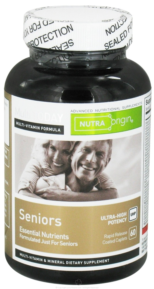 Nutra Origin - Multi Today Seniors Essential Nutrients Ultra-High Potency - 60 Caplets