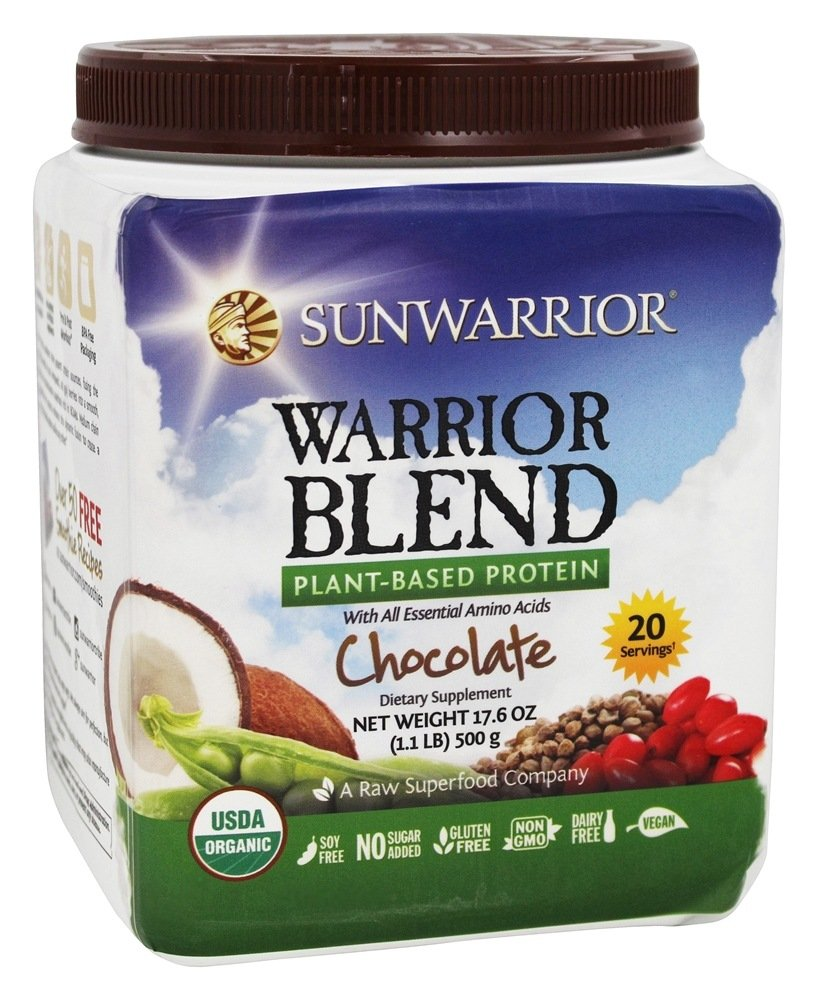 Sun Warrior - Warrior Blend Raw Protein Chocolate - 17.6 oz.