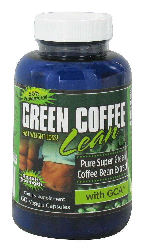 Gold Star Nutrition - Green Coffee Bean Double Strength with GCA 800 mg. - 60 Vegetarian Capsules