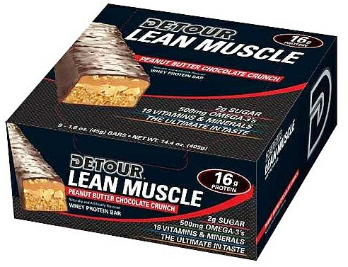 Forward Foods - Detour Lean Muscle Whey Protein Bar Peanut Butter Chocolate Crunch - 1.6 oz. DAILY DEAL