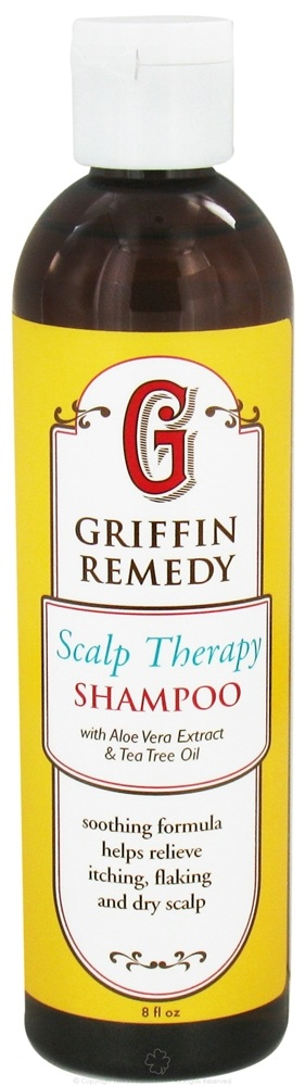 Griffin Remedy - Scalp Therapy Shampoo with Aloe Vera Extract and Tea Tree Oil - 8 oz.