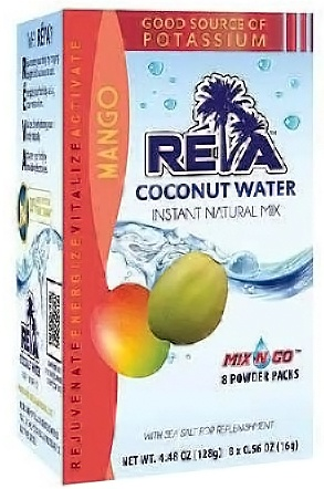 Maxim Ajmera - Reva Coconut Water Instant Natural Mix Mango 8 x 0.56 oz Packs