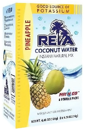 Maxim Ajmera - Reva Coconut Water Instant Natural Mix Pineapple 8 x 0.56 oz Packs