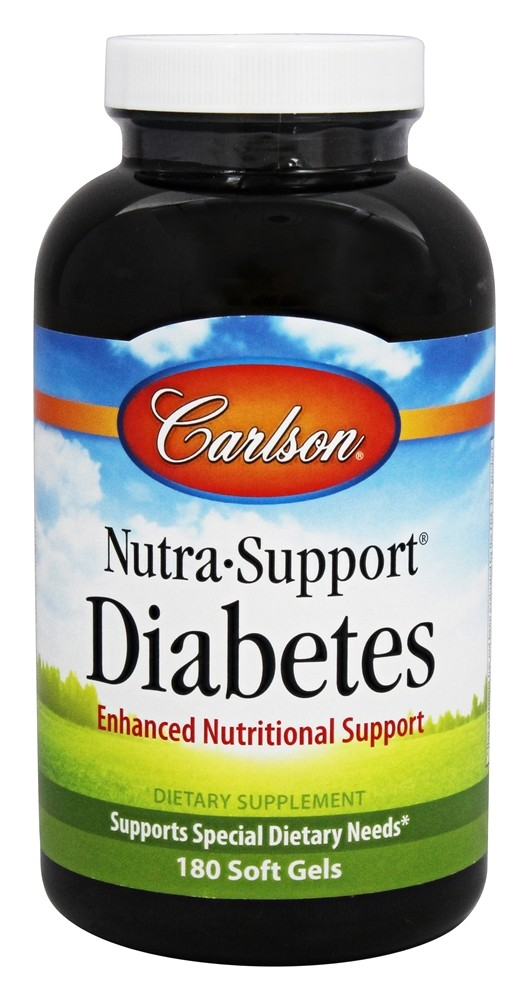 Carlson Labs - Nutra-Support Diabetes Iron-Free - 180 Softgels