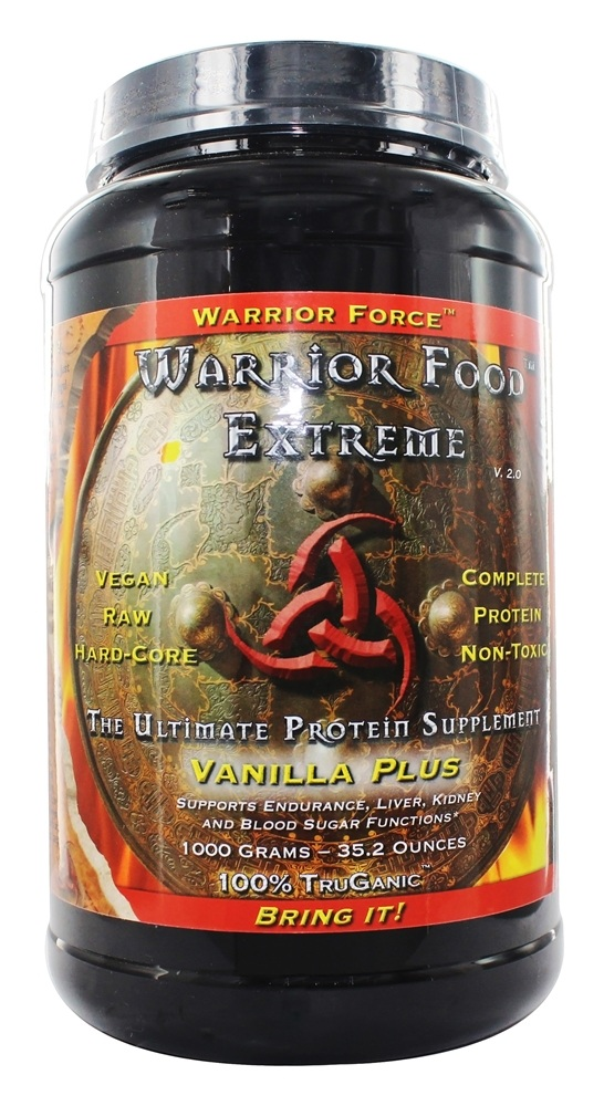 WarriorForce - Warrior Food Extreme Protein Supplement V 2.0 Vanilla Plus - 1000 Grams
