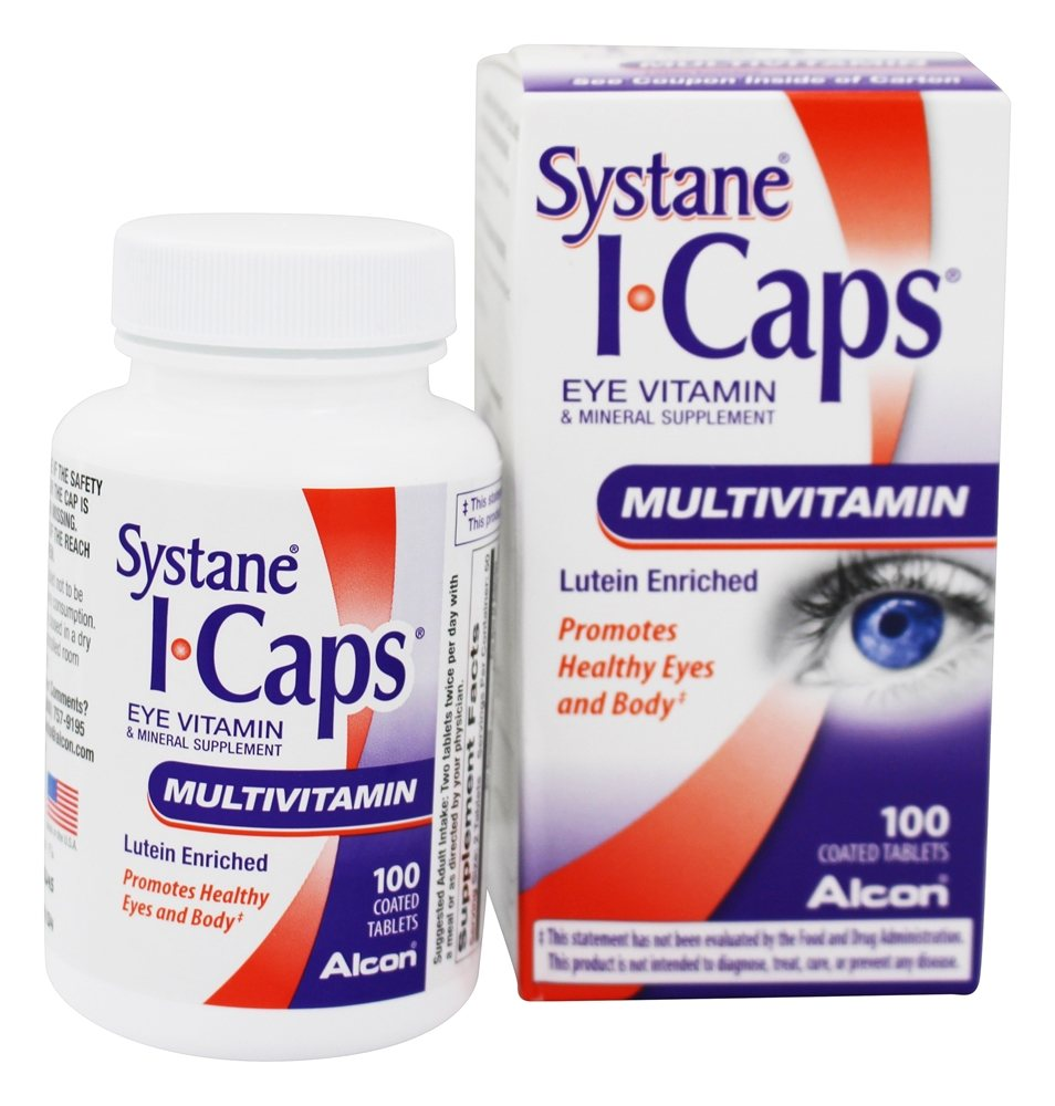 ICaps by Alcon - ICaps Lutein Enriched Eye Multivitamin - 100 Tablets