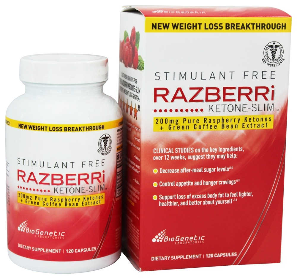 BioGenetic Laboratories - Razberri Ketone-Slim with Green Coffee Bean Extract 200 mg. - 120 Capsules