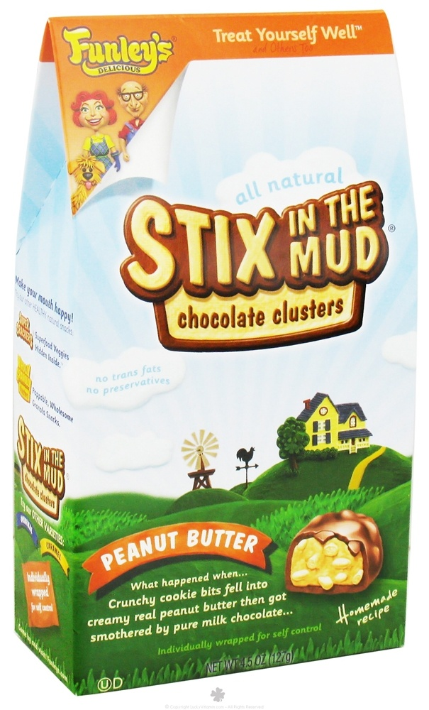 Funley's - All Natural Stix In The Mud Chocolate Clusters Peanut Butter - 4.5 oz. DAILY DEAL