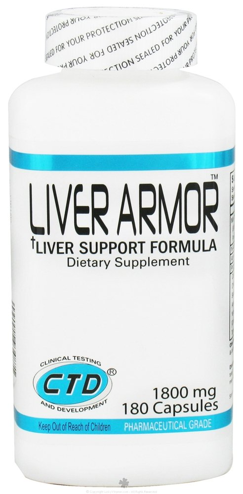 CTD Labs - Liver Armor 1800 mg. - 180 Capsules CLEARANCE PRICED
