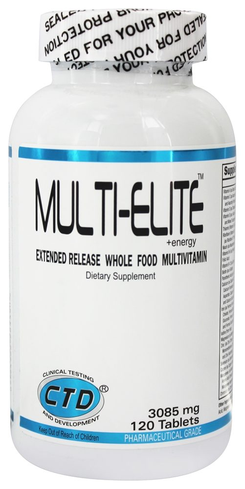 CTD Labs - Multi-Elite Extended Release Whole Food Multivitamin 3085 mg. - 120 Capsules