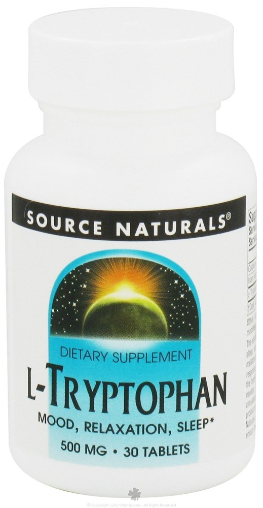 Source Naturals - L-Tryptophan 500 mg. - 30 Tablets