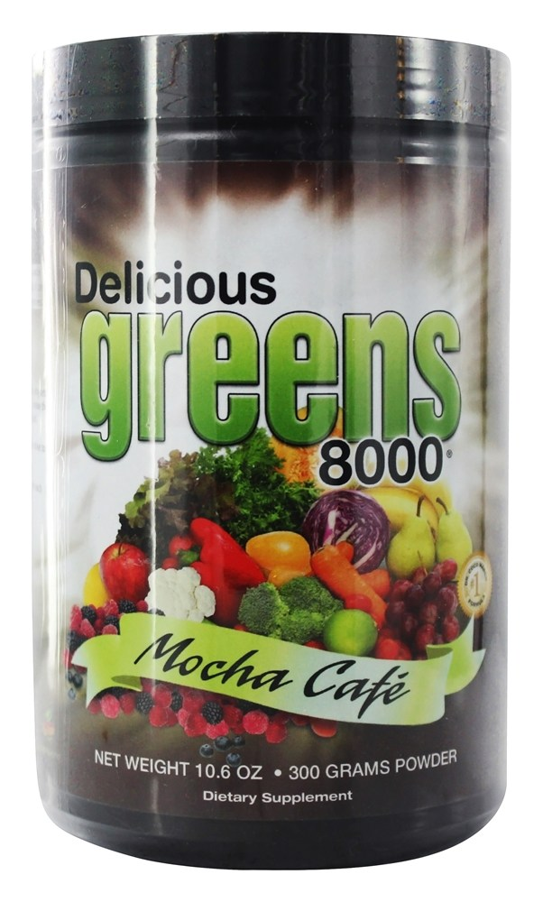 Greens World - Delicious Greens 8000 Mocha Cafe - 10.6 oz.