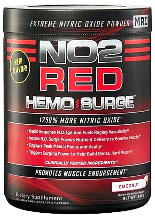 MRI: Medical Research Institute - NO2 Red Hemo Surge Coconut - 240 Grams CLEARANCE PRICED
