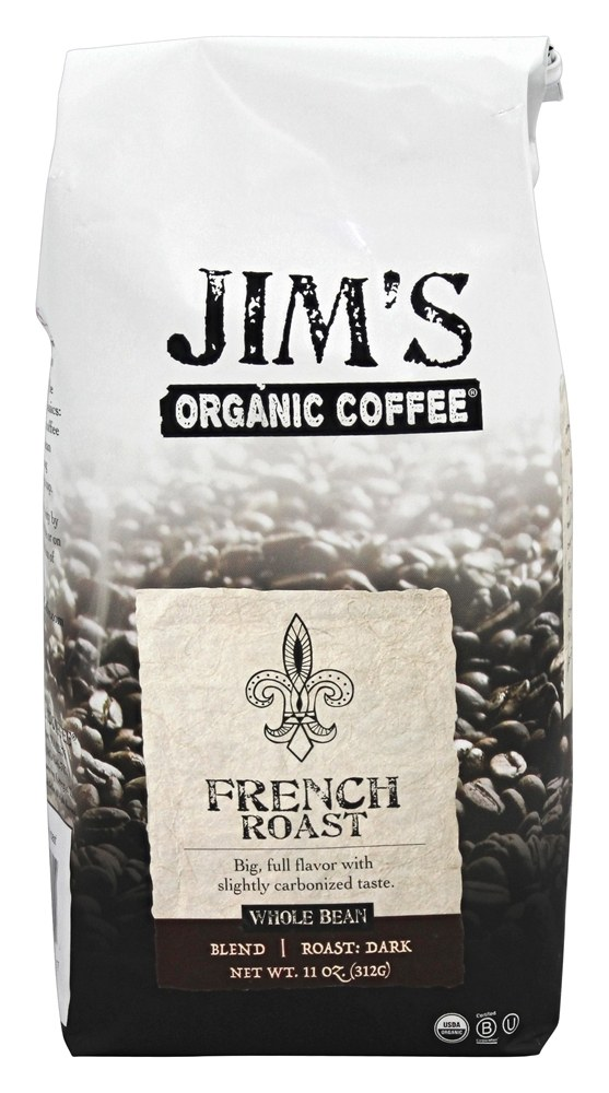Jim's Organic Coffee - Whole Bean Coffee French Roast - 12 oz.