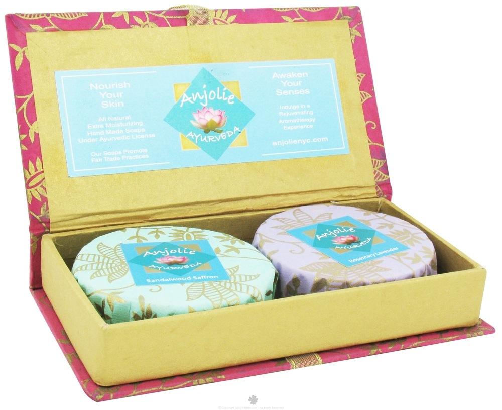 Anjolie Ayurveda - Sandalwood Saffron and Rosemary Lavender Soap Gift Box - CLEARANCED PRICED