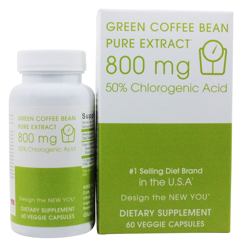 Creative BioScience - Green Coffee Bean Pure Extract 800 mg. - 60 Vegetarian Capsules