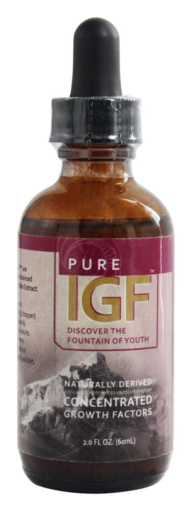 Pure Solutions - Pure IGF Concentrated Growth Factors From Deer Velvet Antler Extract - 2 oz.