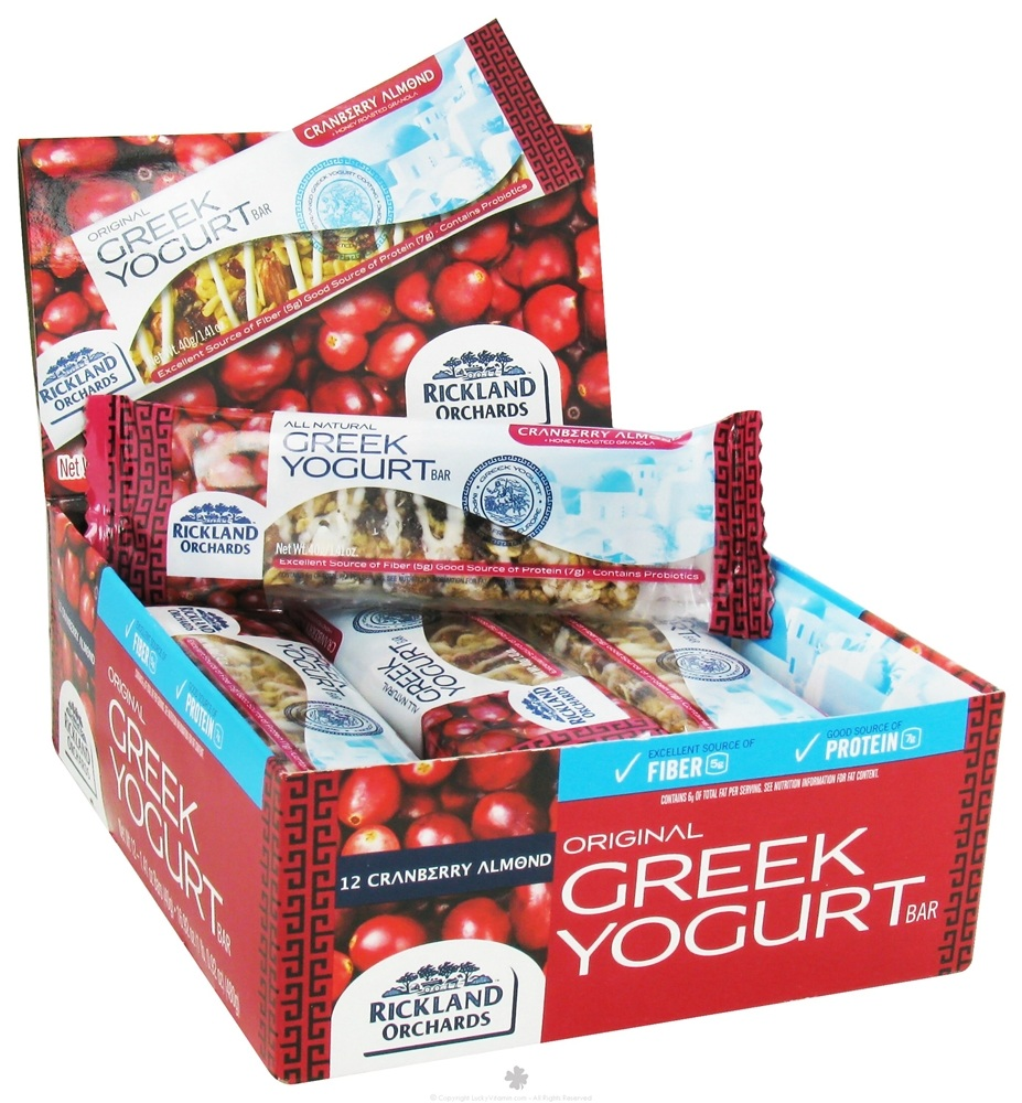 Rickland Orchards - All Natural Greek Yogurt Coated Bar Cranberry Almond - 1.41 oz.