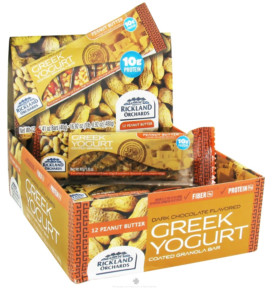 Rickland Orchards - All Natural Greek Yogurt Coated Bar Peanut Butter - 1.41 oz.
