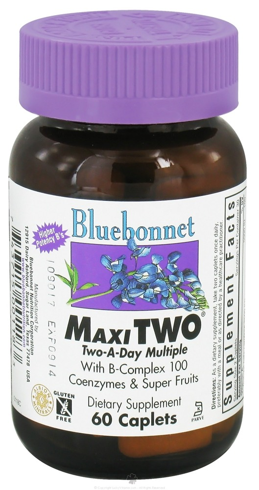 Bluebonnet Nutrition - MaxiTWO Multiple - 60 Caplets