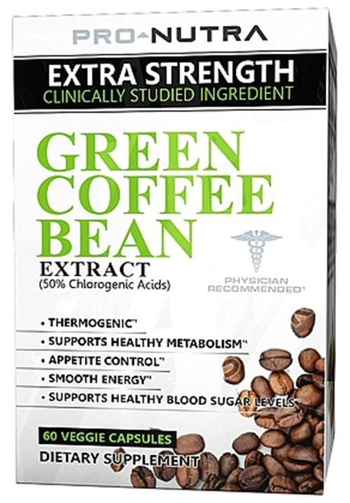 Pro Nutra - Green Coffee Bean Extract - 60 Vegetarian Capsules CLEARANCE PRICED