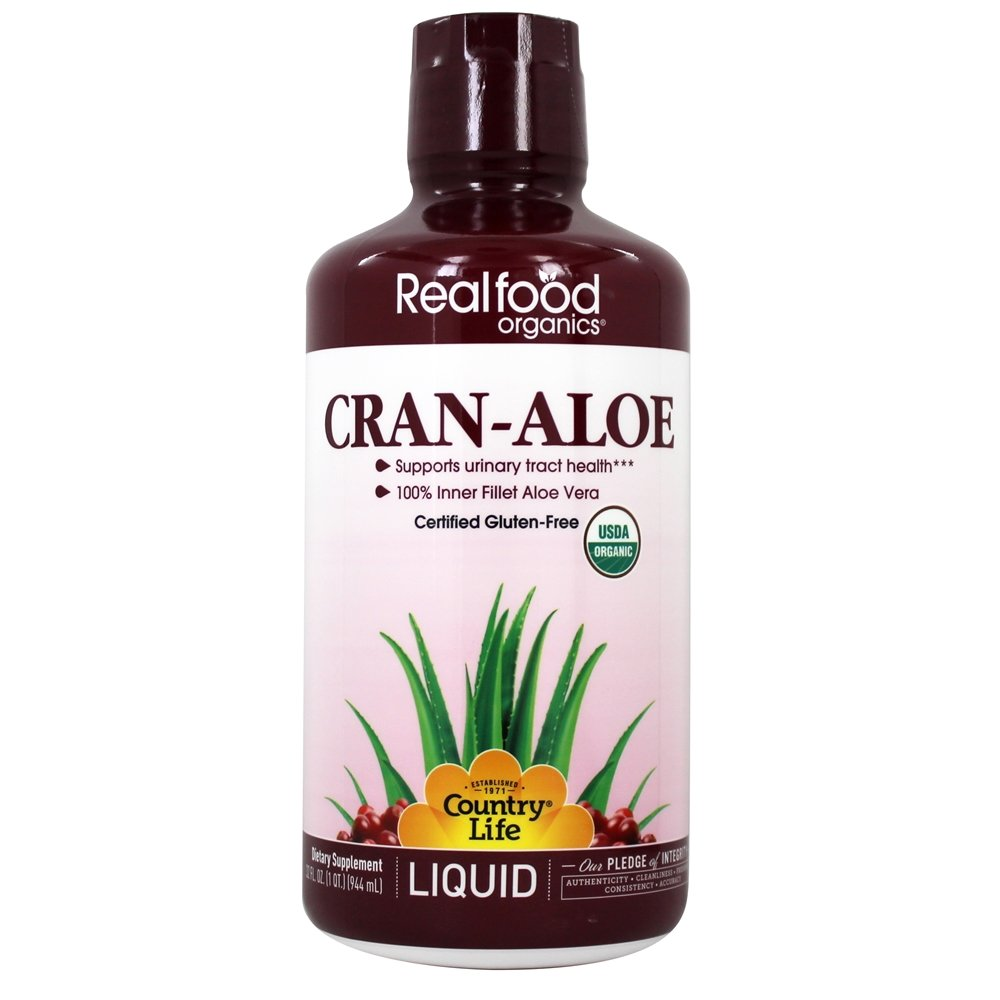 Country Life - Real Food Organics Liquid Cran-Aloe - 32 oz.
