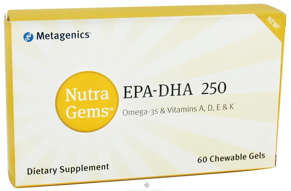Metagenics - Nutra Gems EPA-DHA 250 - 60 Chewable Gels