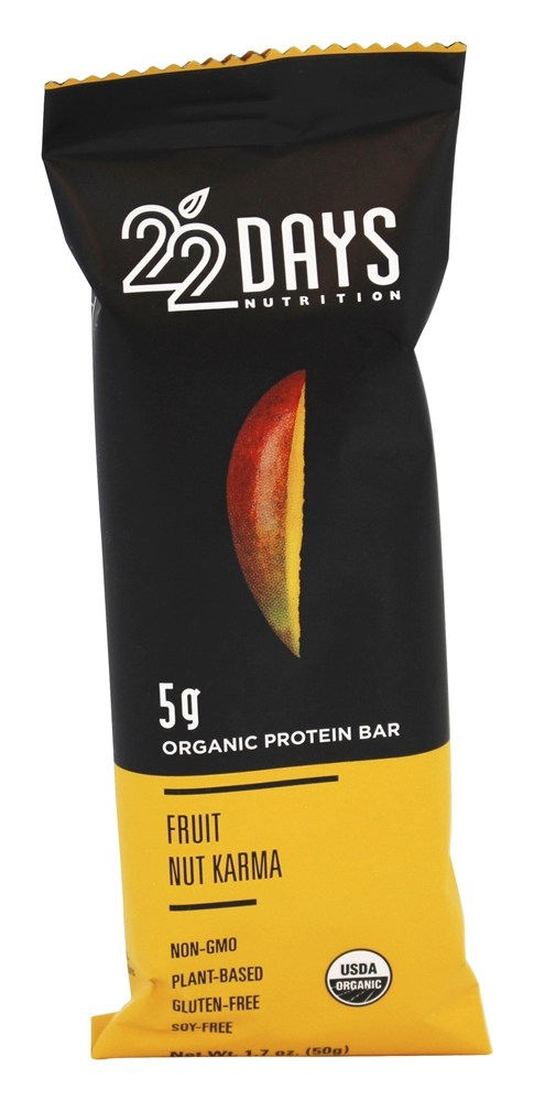 22 Days Nutrition - Vegan Protein Bar Fruit Nut Karma - 1.7 oz.