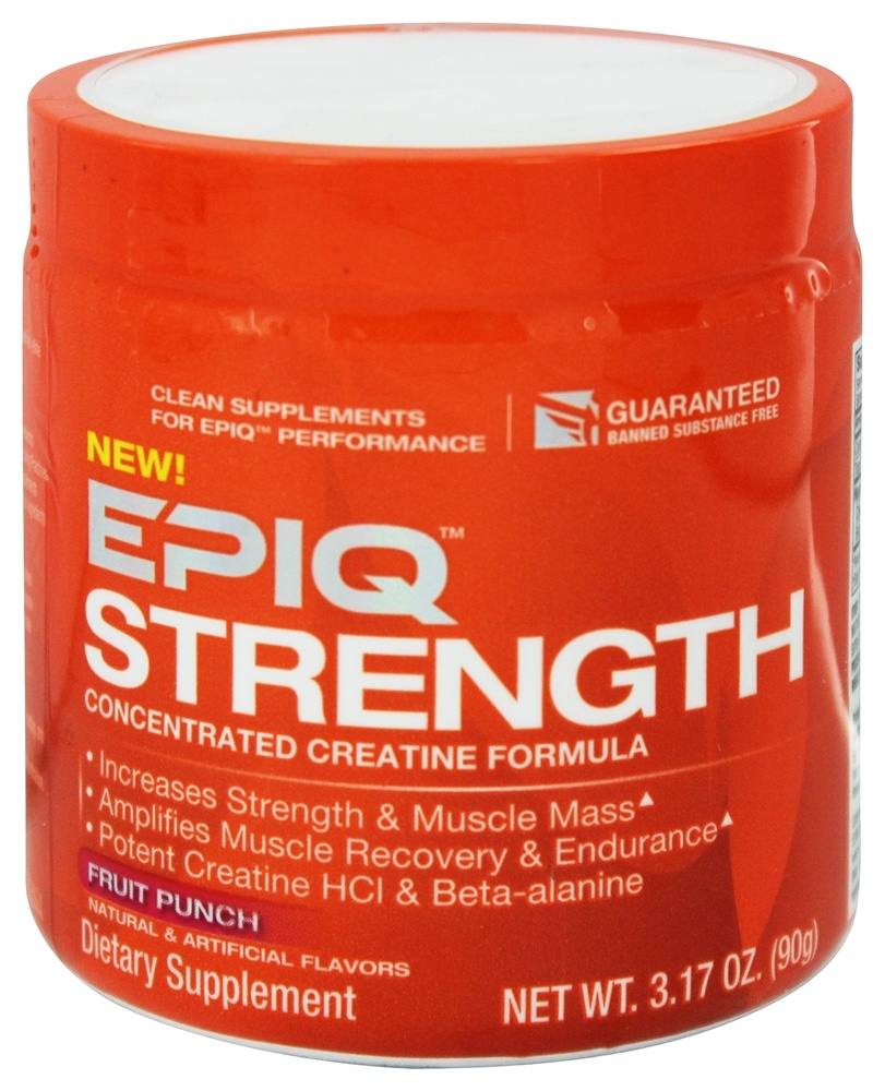 EPIQ - Strength Concentrated Creatine Formula Fruit Punch 60 Servings - 90 Grams