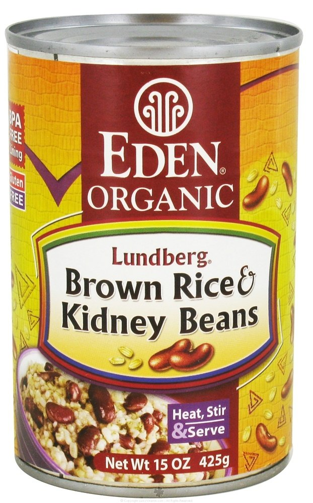 Eden Foods - Organic Lundberg Brown Rice and Kidney Beans - 15 oz.