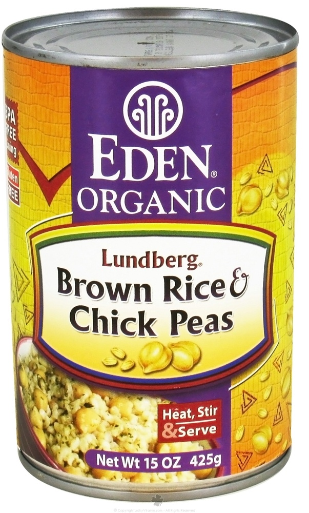 Eden Foods - Organic Lundberg Brown Rice and Chick Peas - 15 oz.