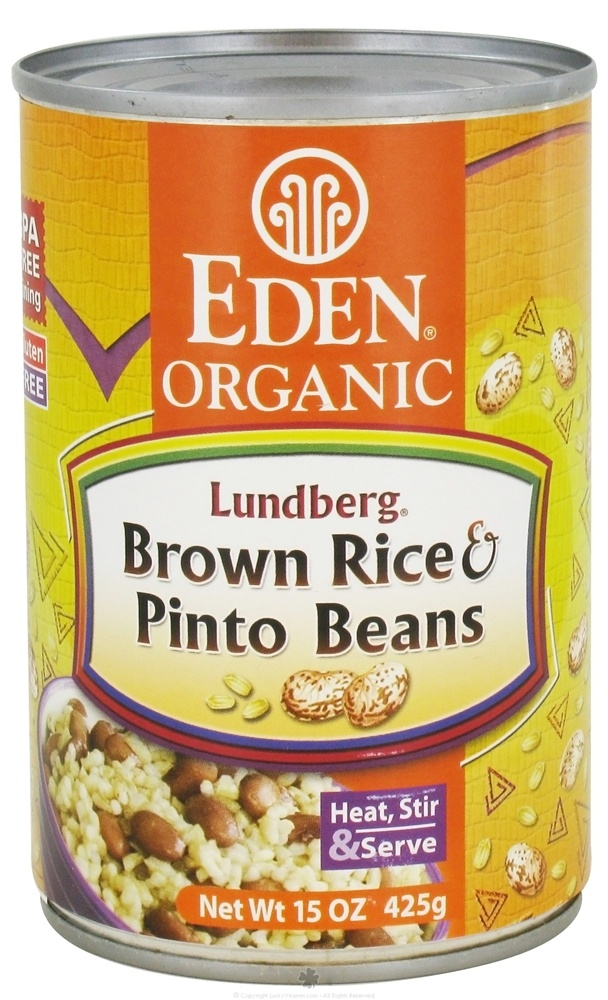 Eden Foods - Organic Lundberg Brown Rice and Pinto Beans - 15 oz.