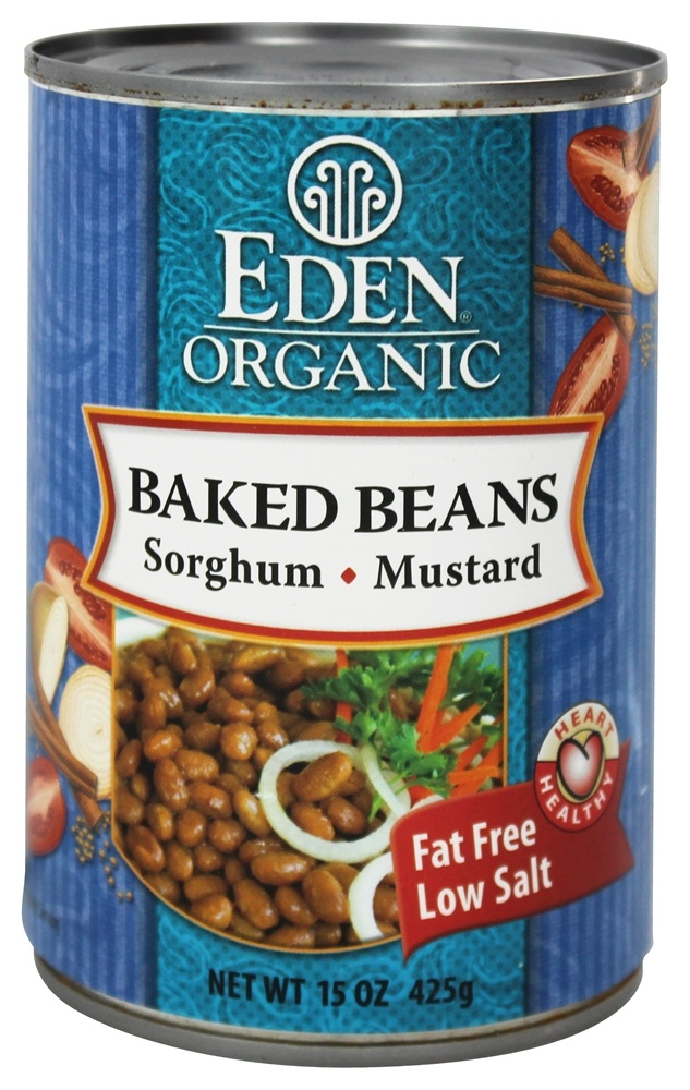 Eden Foods - Organic Baked Beans with Sorghum and Mustard - 15 oz.