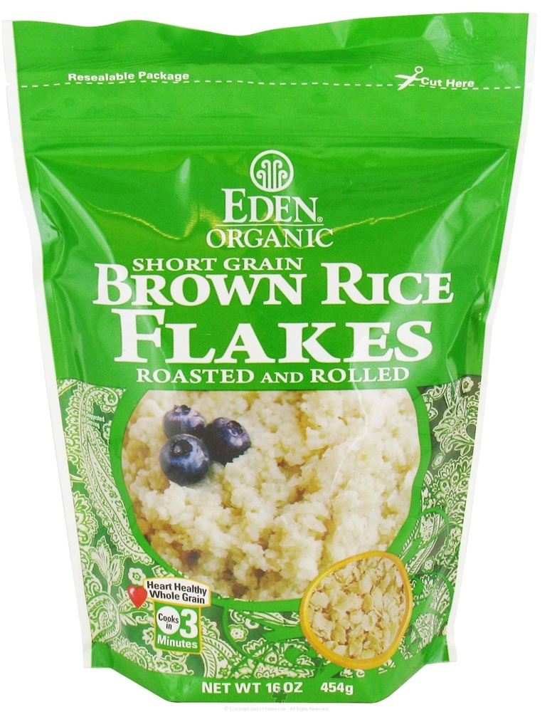 Eden Foods - Organic Short Grain Brown Rice Flakes - 16 oz.