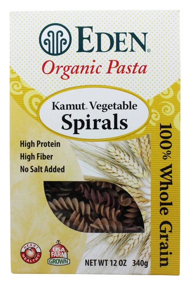 Eden Foods - Organic Pasta Kamut Vegetable Spirals - 12 oz.