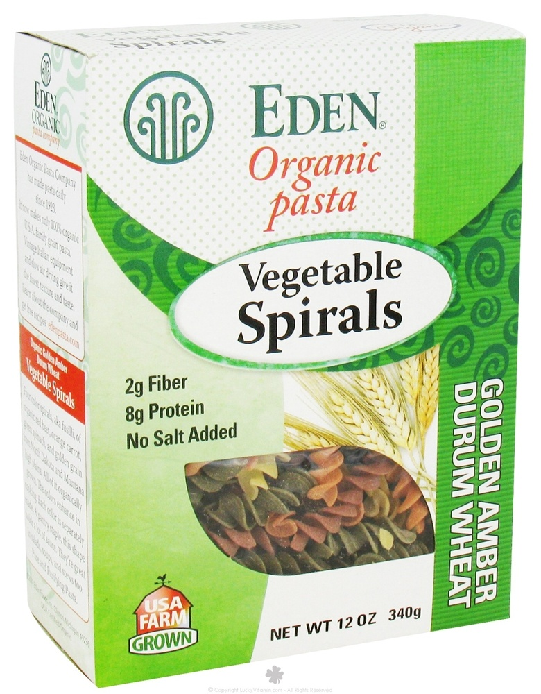 Eden Foods - Organic Pasta Vegetable Spirals - 12 oz.
