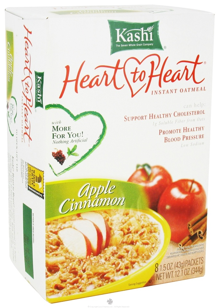 Kashi - Heart to Heart Instant Oatmeal Apple Cinnamon - 12.1 oz.