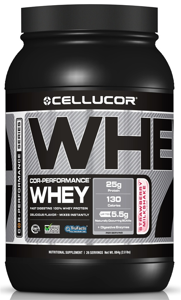 Cellucor - Cor-Performance Series Whey Strawberry Milkshake - 2 lbs.