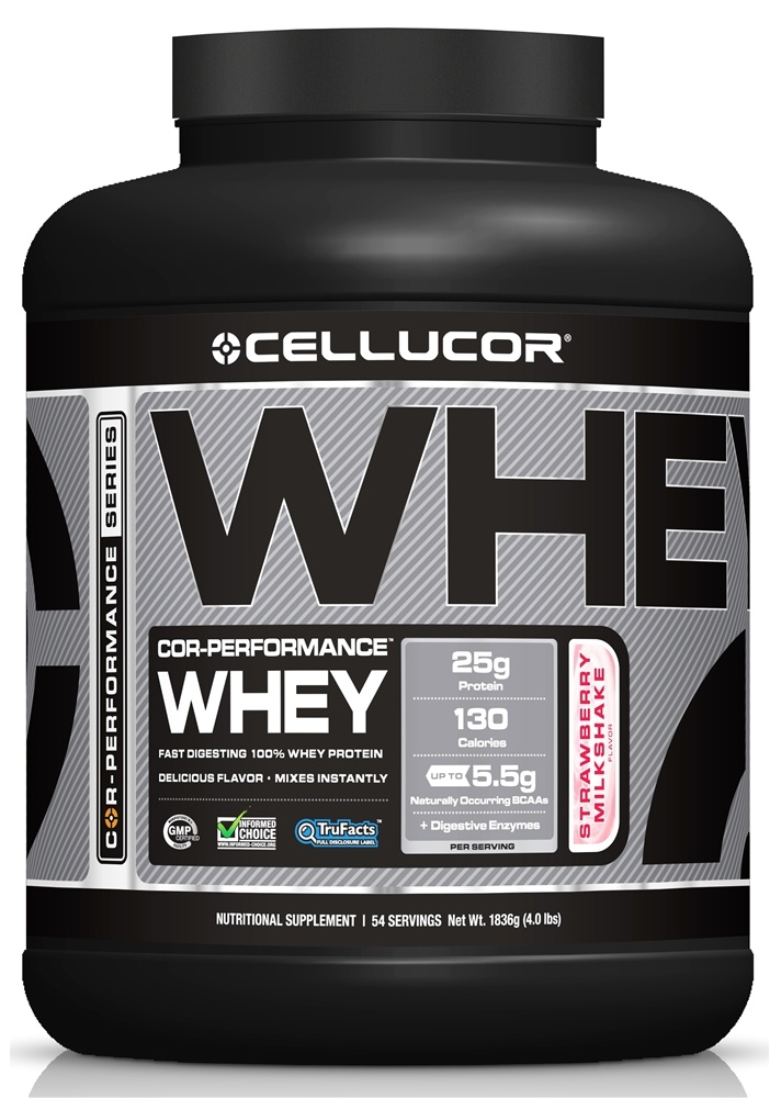 Cellucor - Cor-Performance Series Whey Strawberry Milkshake - 4 lbs.