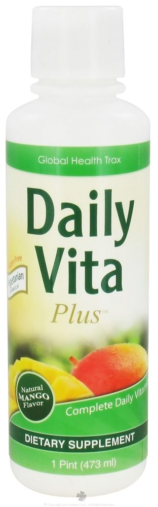 Global Health Trax (GHT) - Daily Vita Plus Vegetarian Formula Natural Mango - 16 oz. CLEARANCE PRICED