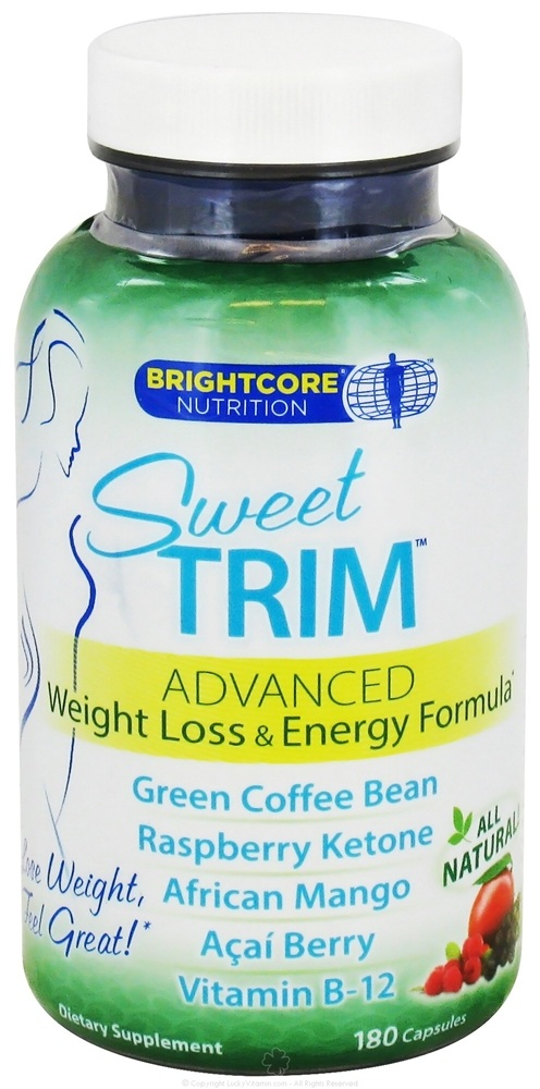 Brightcore Nutrition - Sweet Trim Weight Loss & Energy Formula - 180 Capsules
