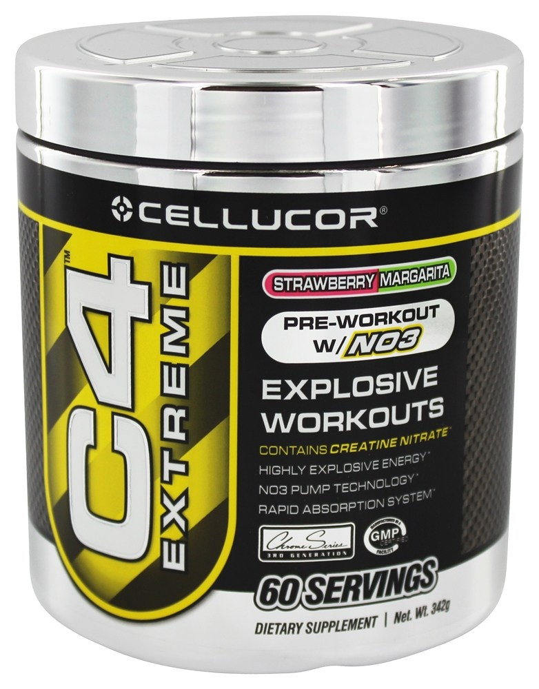 Cellucor - C4 Extreme Pre-Workout with NO3 Strawberry Margarita 60 Servings - 360 Grams