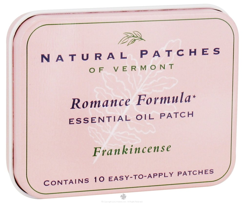 Natural Patches of Vermont - Essential Oil Body Patch Romance Formula Frankincense - 10 Patch(es)