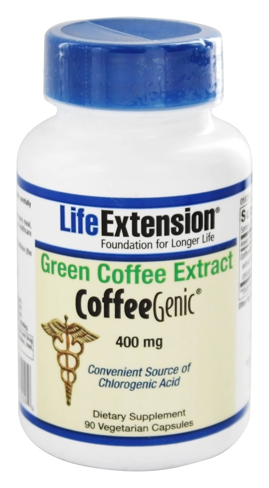 Life Extension - CoffeeGenic Green Coffee Extract 400 mg. - 90 Vegetarian Capsules