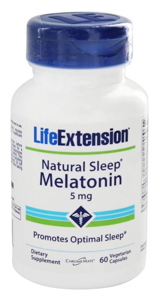 Life Extension - Natural Sleep Melatonin 5 mg. - 60 Capsules