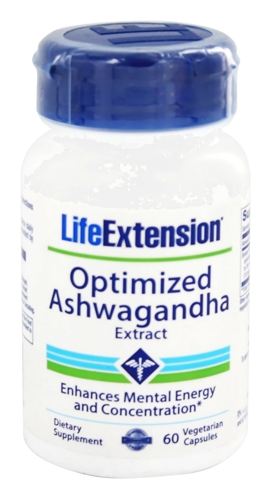 Life Extension - Optimized Ashwagandha Extract - 60 Vegetarian Capsules