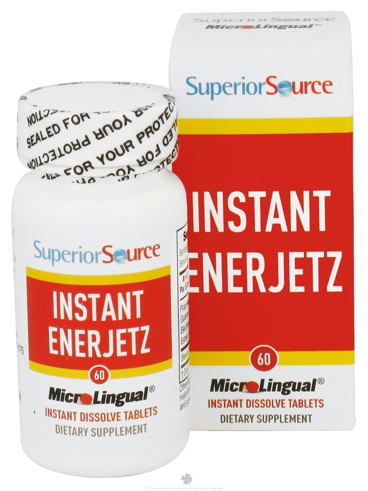 Superior Source - Instant Enerjetz Instant Dissolve - 60 Tablets