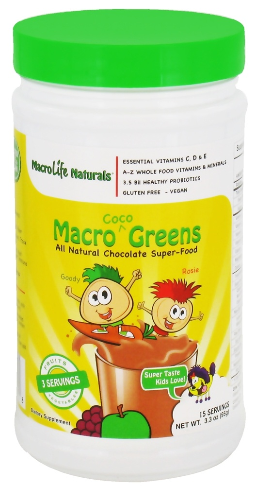 MacroLife Naturals - Macro Greens For Kids Coco - 3.3 oz.