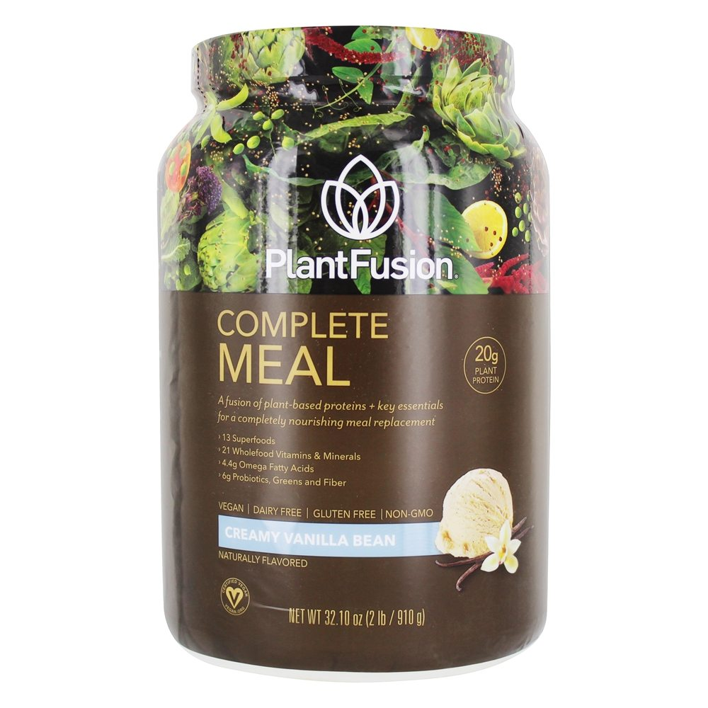 PlantFusion - Phood 100% Plant-Based Whole Food Meal Shake Vanilla - 1.98 lbs.